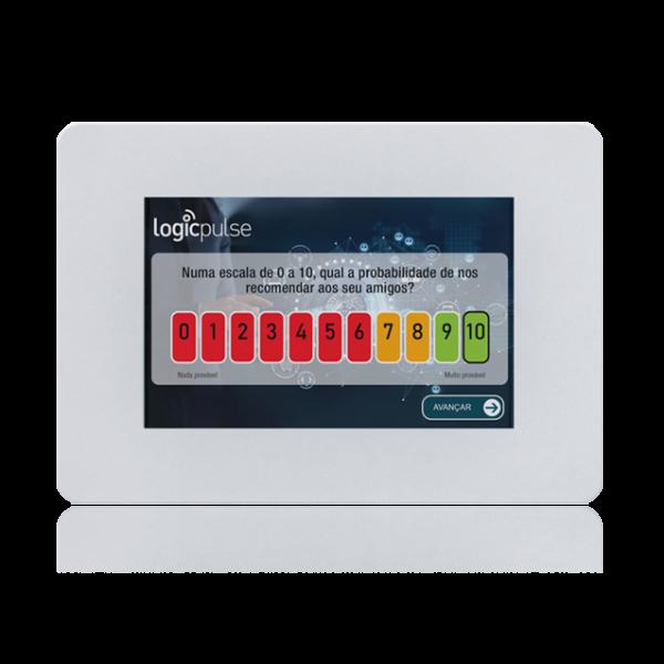 Quiosque Multimédia, Sistema de Inquérito de Satisfação, SV-WALL KIOSK - ANDROID [QMSV4] - Branco