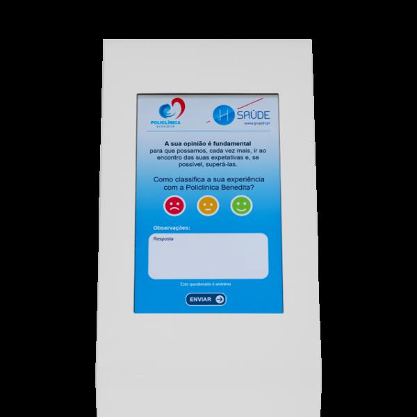 Quiosque Multimédia, Sistema de Inquérito de Satisfação, SV-COMPACT KIOSK - ANDROID [QMSV2] - Branco