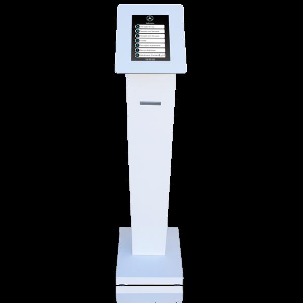 Dispensador de Senhas, Quiosque multimédia, Quiosque Filas de Espera, Quiosque Compacto TT [QMTT2] - Branco
