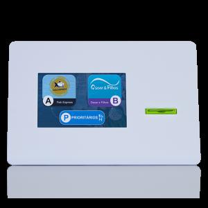Dispensador de Senhas, Quiosque multimédia, Quiosque Filas de Espera, Quiosque Compacto TD [QMTD1] - Branco