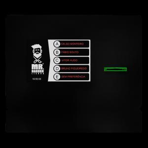 Dispensador de Senhas, Quiosque multimédia, Quiosque Filas de Espera, Quiosque Compacto TD [QMTD1] - Preto